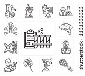 set of 13 simple editable icons ... | Shutterstock .eps vector #1131333323