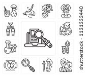 set of 13 simple editable icons ... | Shutterstock .eps vector #1131333440