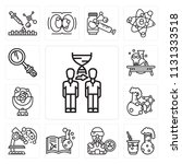 set of 13 simple editable icons ... | Shutterstock .eps vector #1131333518