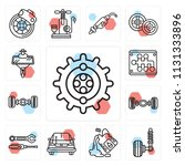 set of 13 simple editable icons ...   Shutterstock .eps vector #1131333896