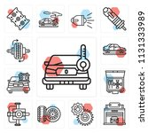 set of 13 simple editable icons ...   Shutterstock .eps vector #1131333989