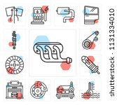 set of 13 simple editable icons ... | Shutterstock .eps vector #1131334010