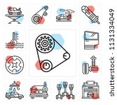set of 13 simple editable icons ...   Shutterstock .eps vector #1131334049