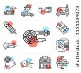 set of 13 simple editable icons ... | Shutterstock .eps vector #1131334073