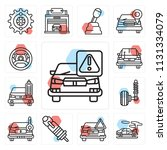 set of 13 simple editable icons ...   Shutterstock .eps vector #1131334079