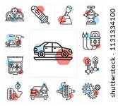 set of 13 simple editable icons ...   Shutterstock .eps vector #1131334100