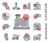 set of 13 simple editable icons ... | Shutterstock .eps vector #1131334148