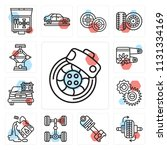 set of 13 simple editable icons ...   Shutterstock .eps vector #1131334169