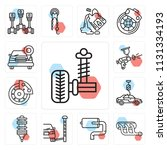 set of 13 simple editable icons ...   Shutterstock .eps vector #1131334193