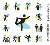 set of 13 simple editable icons ... | Shutterstock .eps vector #1131336143