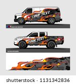 car decal  truck and cargo van... | Shutterstock .eps vector #1131342836