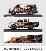 car decal  truck and cargo van... | Shutterstock .eps vector #1131343076