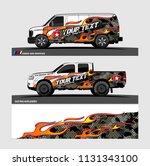 car decal  truck and cargo van... | Shutterstock .eps vector #1131343100