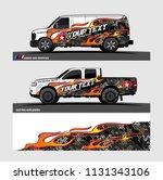 car decal  truck and cargo van... | Shutterstock .eps vector #1131343106
