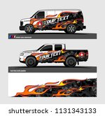 car decal  truck and cargo van... | Shutterstock .eps vector #1131343133