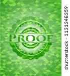 proof green mosaic emblem | Shutterstock .eps vector #1131348359