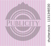 publicity realistic pink emblem | Shutterstock .eps vector #1131348530