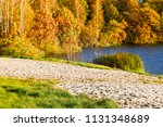 Autumn Landscape Of The Lake...