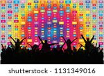 dancing people silhouettes.... | Shutterstock .eps vector #1131349016