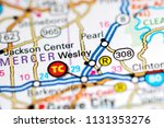 wesley. pennsylvania. usa on a... | Shutterstock . vector #1131353276