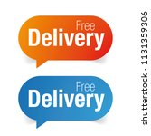 free delivery sign label tag | Shutterstock .eps vector #1131359306