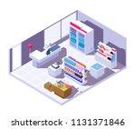 isometric supermarket interior. ... | Shutterstock .eps vector #1131371846