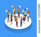 internet forum. people...   Shutterstock .eps vector #1131371849