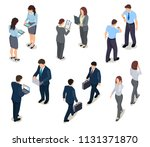 isometric business people. 3d... | Shutterstock .eps vector #1131371870
