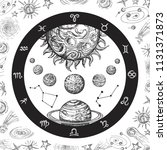 astrology concept with planets. ... | Shutterstock .eps vector #1131371873