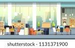 coworking interior. empty open... | Shutterstock .eps vector #1131371900
