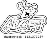 a cartoon illustration of a dog ... | Shutterstock .eps vector #1131373259