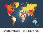 world map vector | Shutterstock .eps vector #1131376733