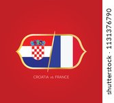 england versus france soccer... | Shutterstock .eps vector #1131376790