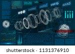 hud ui for business app.... | Shutterstock .eps vector #1131376910