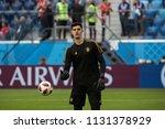 belgium's goalkeeper thibaut... | Shutterstock . vector #1131378929