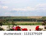 wind turbine  windmills. wind...   Shutterstock . vector #1131379109