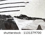 black and white urban street... | Shutterstock . vector #1131379700