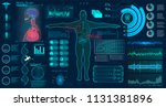 modern medical examination hud... | Shutterstock .eps vector #1131381896