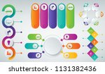 3d infographics templates set....   Shutterstock .eps vector #1131382436
