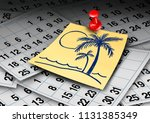 vacation time calendar and... | Shutterstock . vector #1131385349