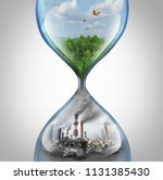 rate of environmental damage... | Shutterstock . vector #1131385430