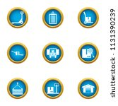 deliver the payload icons set.... | Shutterstock .eps vector #1131390239