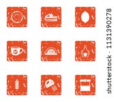 carbohydrate icons set. grunge... | Shutterstock .eps vector #1131390278
