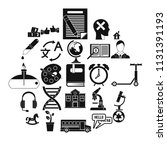 new discoveries icons set.... | Shutterstock .eps vector #1131391193