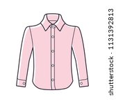 pink dress long sleeve shirt... | Shutterstock .eps vector #1131392813