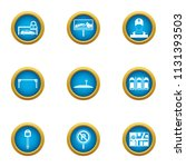 parking facilities icons set.... | Shutterstock .eps vector #1131393503