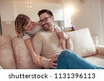 cute young couple enjoying at... | Shutterstock . vector #1131396113