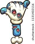 cartoon zombie hand making the... | Shutterstock .eps vector #1131402116