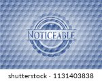 noticeable blue badge with... | Shutterstock .eps vector #1131403838