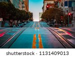 low angle twilight view of an... | Shutterstock . vector #1131409013